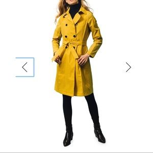 The Limited Yellow Trench Coat | XS